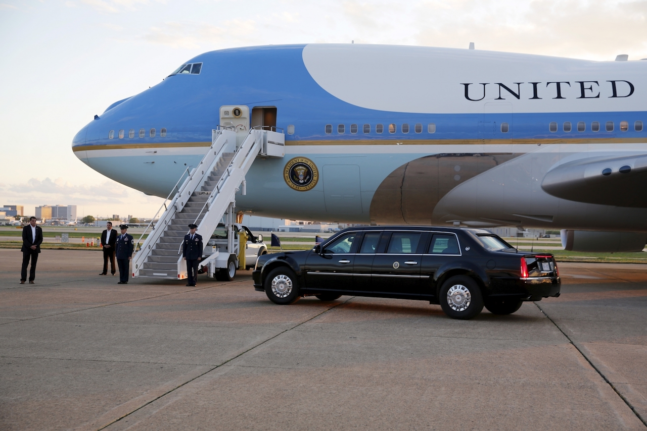 Air Force One Lands In Beijing After Futile Search For Singapore In China