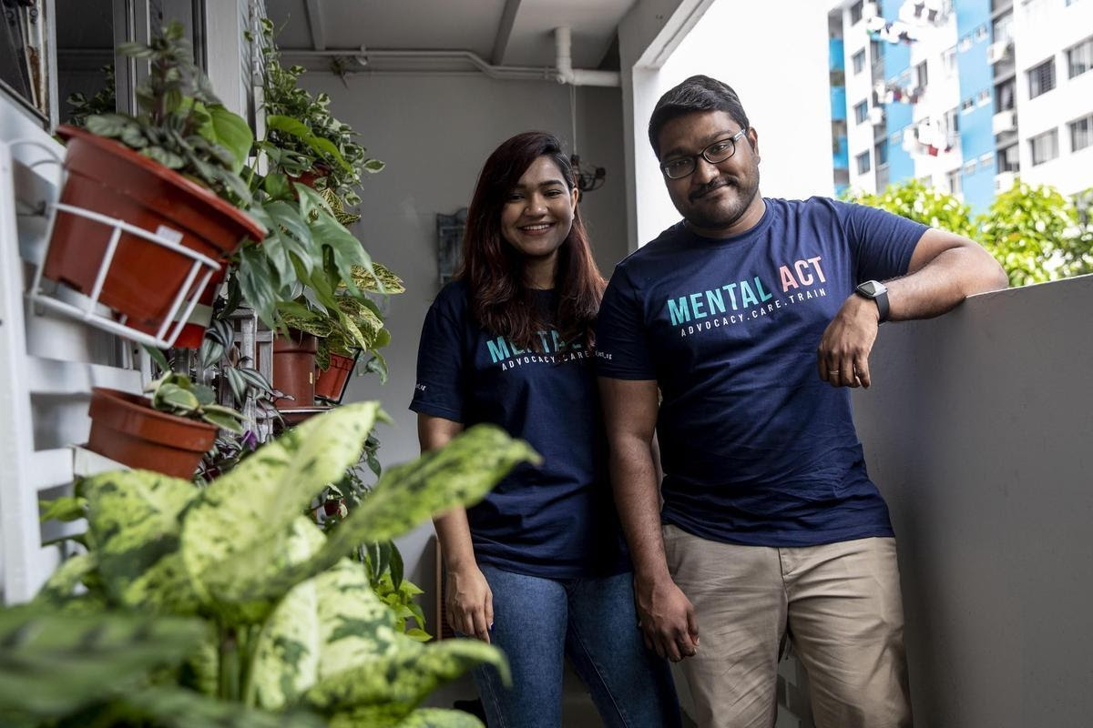 Founders of Mental ACT: Nisha (left) and her partner, Devan (right).
